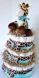 Red Baby Shower Themes For Boys - diaper cake giraffe theme blue u0026 brown baby boy shower diaper