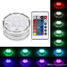 best submersible pond lights best rgb 10 led submersible light battery operated ip68 waterproof