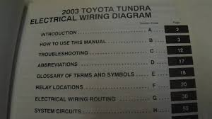 toyota tundra manual 2003 toyota tundra electrical wiring diagrams manual factory oem