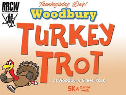 woodbury turkey trot 5k and 2 mile walk event registration