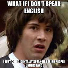 Speak English Meme - what if i don t speak english i just coincidentally speak