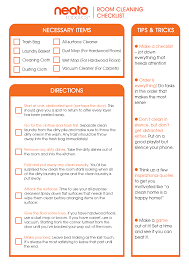 Bedroom Cleaning Checklist Clean The Bedroom Checklist Savae Org