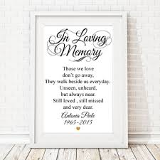 in memory of wedding program in loving memory heart personalized framed sign memorial candles