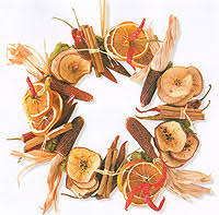 crafts dried fruit and spices wreath