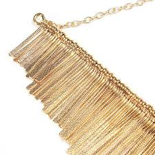 gold chain collar necklace images Punk gold metal multilayer tassels chain choker collar necklace jpg