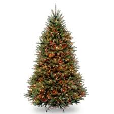 national tree company 12 ft kingswood fir pencil tree with clear