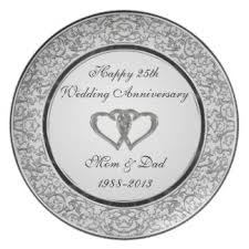silver wedding plates custom wedding anniversary plates