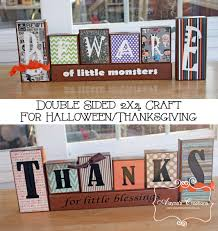 Home Decorations For Halloween by Double Sided Fall Decorations For Halloween And Thanksgiving Diy