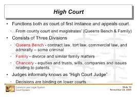 Queen S Bench Division Common Law Court System
