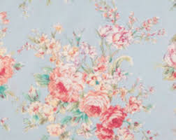 floral fabric etsy