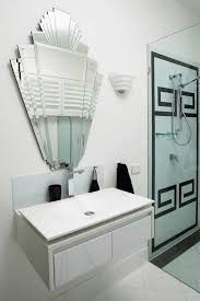 1930s bathroom ideas gatsby inspired interior black and white key tile pattern