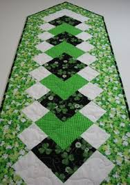 st patrick s day table runner st patrick s day shamrock quilted table runner quilt table runners