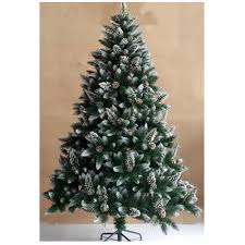 7ft christmas tree buy bavaria 7ft snow flocked and pine cones christmas tree at