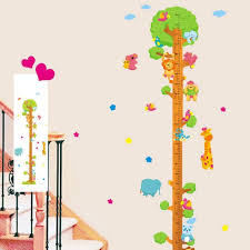 animals tree height chart wall stickers tree decor decals kids animals tree height chart wall stickers tree decor decals kids bedroom nursery lazada singapore