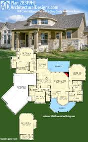 House Plans With Media Room Plan 28319hj Hill Country House Plan With 2 Story Study
