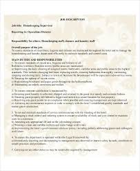 Resume Samples For Cleaning Job by Housekeeping Resume Template 4 Free Word Pdf Documents