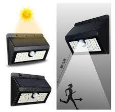 Solar Power Led Outdoor Lights Led Solar Power Pir Motion Sensor Wall Light 45 Led Outdoor