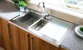 stainless steel sinks with drainboard canada stainless kitchen sinks picturesque stainless kitchen sinks of how
