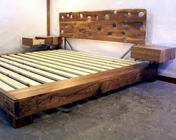 Floating Platform Bed Queen Floating Bed Etsy