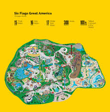 Six Flags Usa Maryland Six Flags Park Maps Illustration On Behance
