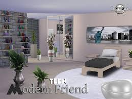 chambre ado moderne adolescent sims 4