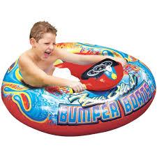 banzai aqua blast inflatable motorized water blaster bumper boat