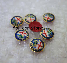 alfa romeo emblem aliexpress com buy 4pcs 15mm alfa romeo car logo key fob emblem
