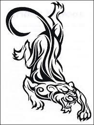 black tribal panther design