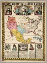 Map Of The United States And Mexico by Ornamental Map Of The United States And Mexico 1846 David
