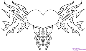 how to draw a tribal heart step by step tribal art pop culture