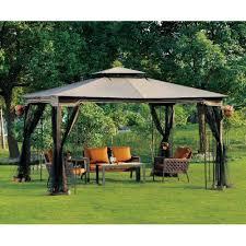 10 x 12 newport hardtop gazebo malibu patio with mosquito netting