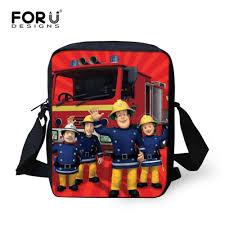 aliexpress buy forudesigns cartoon fireman sam schoolbags