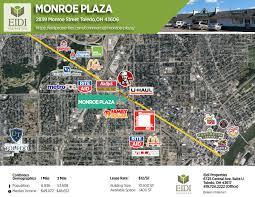 Map Toledo Ohio by Monroe Plaza U2013 Eidi Properties