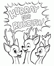 coloring book rudolph red nosed reindeer coloring