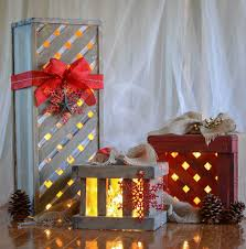 down to earth style make wooden christmas gift box decor