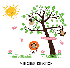 children s monkey tree wall stickers by parkins interiors