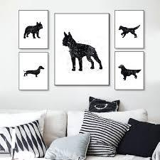 Pug Home Decor Wall Ideas Pug Wall Art Uk Tan Black Pug Art Ready To Hang