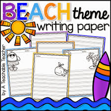 themed writing paper socal blog surf a teachable teacher free writing paper first grade writing kindergarten writing cute writing prompts