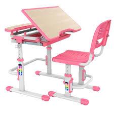 kids desk chair combo bobbie pink blue children adjustable furniture desk chair set with