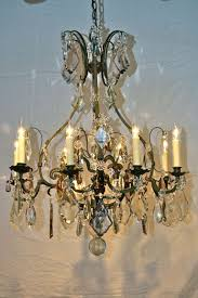 Country French Chandelier by Large French Wrought Iron And Crystal Chandelier By Maison Bagues