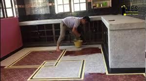 m e s kitchen floor epoxy colour flake coating youtube