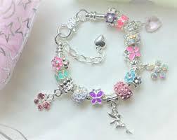 flower girl charms charm bracelet etsy