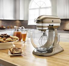 Kitechaid Kitchenaid Artisan 5 Quart Mixer W Glass Bowl Toffee Brown