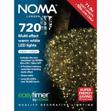 noma 720 led multi effect lights warm white green cable 8772gww