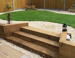 wooden garden steps design google search concrete sleepers