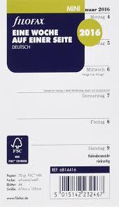 Baden Englisch Filofax 6814416 Kalendereinlage Mini Jahresplaner Englisch 2017