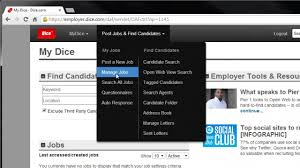 Dice Resume Search How To View Your Job Posting Applicants Youtube