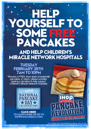 Get Free Pancakes At Participating Ihop Free Stack Of Pancakes Today 2 28 My Frugal Adventures