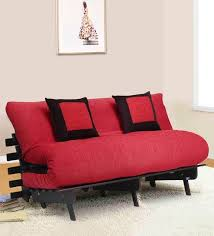 futon pillows buy futon with two pillows in brown colour by