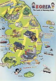 Korea Map Asia by Tourist Illustrated Map Of South Korea South Korea Asia